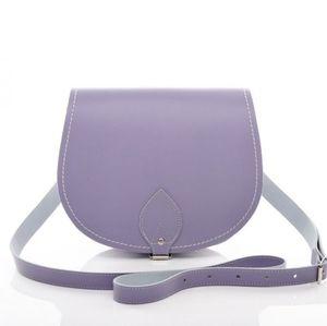Handbags - LAVANDER LEATHER CROSSBODY HANDBAG